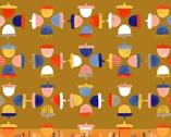 Sweet Oak - Acorns Mustard  by Striped Pear Studio from Windham Fabrics