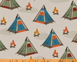 Bear Camp - Tents Tan by Whistler Studios from Windham Fabrics