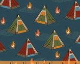 Bear Camp - Tents Blue Teal by Whistler Studios from Windham Fabrics