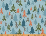 Bear Camp - Forest Trees Blue by Whistler Studios from Windham Fabrics
