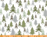 Bear Camp - Forest Trees White by Whistler Studios from Windham Fabrics