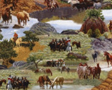 Happy Trails - Landscape Horses by Roy Rogers from Windham Fabrics