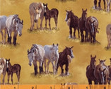 Happy Trails - Horses Tan by Roy Rogers from Windham Fabrics