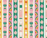 Animal Alphabet - Pencil Stripe by Suzy Ultman from Paintbrush Studio Fabrics