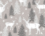 Midwinter Song  - Deer Woods Gray from Studio E Fabrics