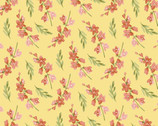 Blessings - Flower Sprigs Yellow by Jane Alison from Henry Glass Fabric