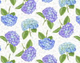 Hydrangea Birdsong - Tossed Hydrangea from Henry Glass Fabric