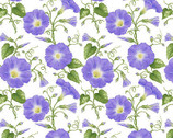 Hydrangea Birdsong - Morning Glory from Henry Glass Fabric
