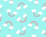 Unicorn Magic Pearlescent - Rainbows Aqua by Kanvas Studio from