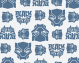 Black Panther FLANNEL - Mask Blue from Camelot Fabrics
