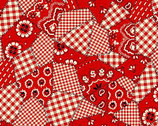 Bandana Red FLEECE from David Textiles Fabrics
