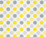 Sweet Dots FLANNEL Gray Yellow from David Textiles Fabrics