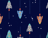 Spaceships FLANNEL from David Textiles Fabrics