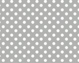 Polka Dot Grey FLANNEL from David Textiles Fabrics