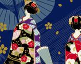 Maiko - Geisha Blue from Cosmo Fabric