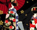 Maiko - Geisha Black from Cosmo Fabric