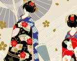 Maiko - Geisha Cream from Cosmo Fabric