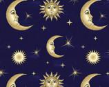 Lux Anti-Pill FLEECE - Celestial Moons from David Textiles Fabrics