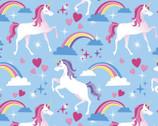Lux Anti-Pill FLEECE - Prancing Unicorns from David Textiles Fabrics