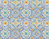 Morning Bloom - Mosaic Tile from David Textiles Fabrics