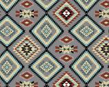 Southwest Corners - Raindance Argyle Grey from Four Seasons Fabric