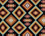 Southwest Corners - Raindance Argyle Black from Four Seasons Fabric