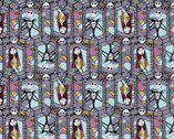 Nightmare Before Christmas - Sally and Jack Stained Glass from Springs Creative Fabric