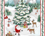 Peace and Goodwill PANEL 36 Inches - Christmas Scene from Studio E Fabrics