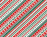 Peace and Goodwill - Diagonal Stripe Holiday from Studio E Fabrics