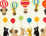 Bearry Land OXFORD - Animal Hot Air Balloons Multi from Robert Kaufman Fabrics
