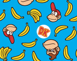 Nintendo Collection - Donkey  Kong Blue from Springs Creative Fabric