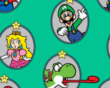 Nintendo Collection - Super Mario Badge Green from Springs Creative Fabric