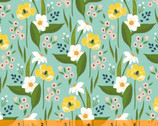 Cora - Happy Floral Aqua by Tessie Fay from Windham Fabrics