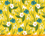 Cora - Happy Floral Yellow by Tessie Fay from Windham Fabrics