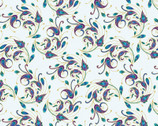 Peacock Flourish - Spin It Metallic by Ann Lauer from Benartex Fabrics