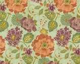 Embassy Row Master Floral Muslin Green Mint from Springs Creative Fabric