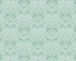 Hummingbird - Silhouette Duck Egg Aqua from Lewis and Irene Fabric