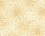 Plant Kindness - Daisies Beige Tonal by One Sister from Henry Glass Fabric