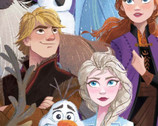 Frozen - Characters Packed FLEECE from Springs Creative Fabric