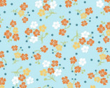 Carnaby Street - Flowers and Dots Blue from Maywood Studio Fabric
