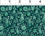 Garden Delights III - Minty Aqua Floral Paisley 9GSG-3 from In The Beginning Fabric