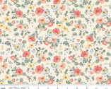 Gingham Gardens - Floral Cream by My Mind's Eye from Riley Blake Fabric