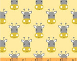 Stand Tall - Giraffe Faces Yellow by Whistler Studios from Windham Fabrics
