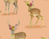 Wanderers Weekend - Floral Fawns Apricot by Whistler Studios from Windham Fabrics