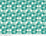Ahoy! Mermaids - Scales Seafoam Sparkle by Melissa Mortenson from Riley Blake Fabric