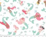 Ahoy! Mermaids - Main White by Melissa Mortenson from Riley Blake Fabric