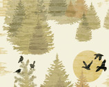 Wild And Free - Nature Scape Birds from Clothworks Fabric