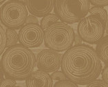 Wild And Free - Tree Rings Brown from Clothworks Fabric