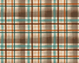 Wild And Free - Plaid Brown Blue by Robin Davis from Clothworks Fabric