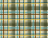 Wild And Free - Plaid Blue by Robin Davis from Clothworks Fabric